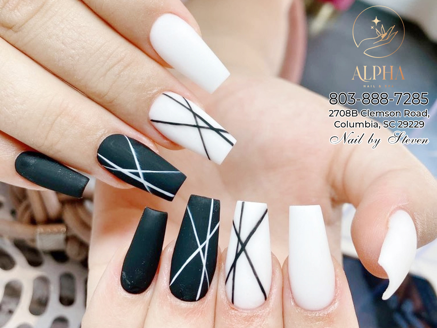 Check out some chic nail designs from our best nail experts Alpha Nails & Spa
